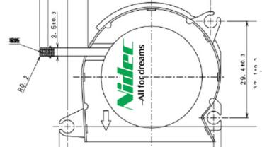 technische Zeichnung der G40N Serie